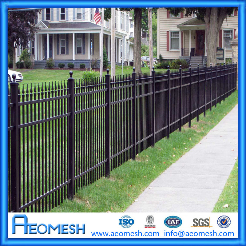 Black Powder Coated Aluminum Fence Post With Competitive