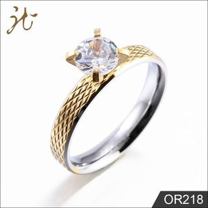 2018 Diamond Couple Stainless Steel Wedding Rings For Womens Men Jewellery