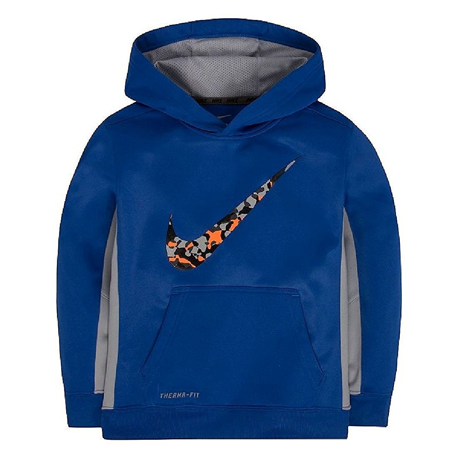 a8b598aa621a Get Quotations · Nike Little Boys  Toddler Therma-Fit Hoodie Sweatshirt  Blue Gray
