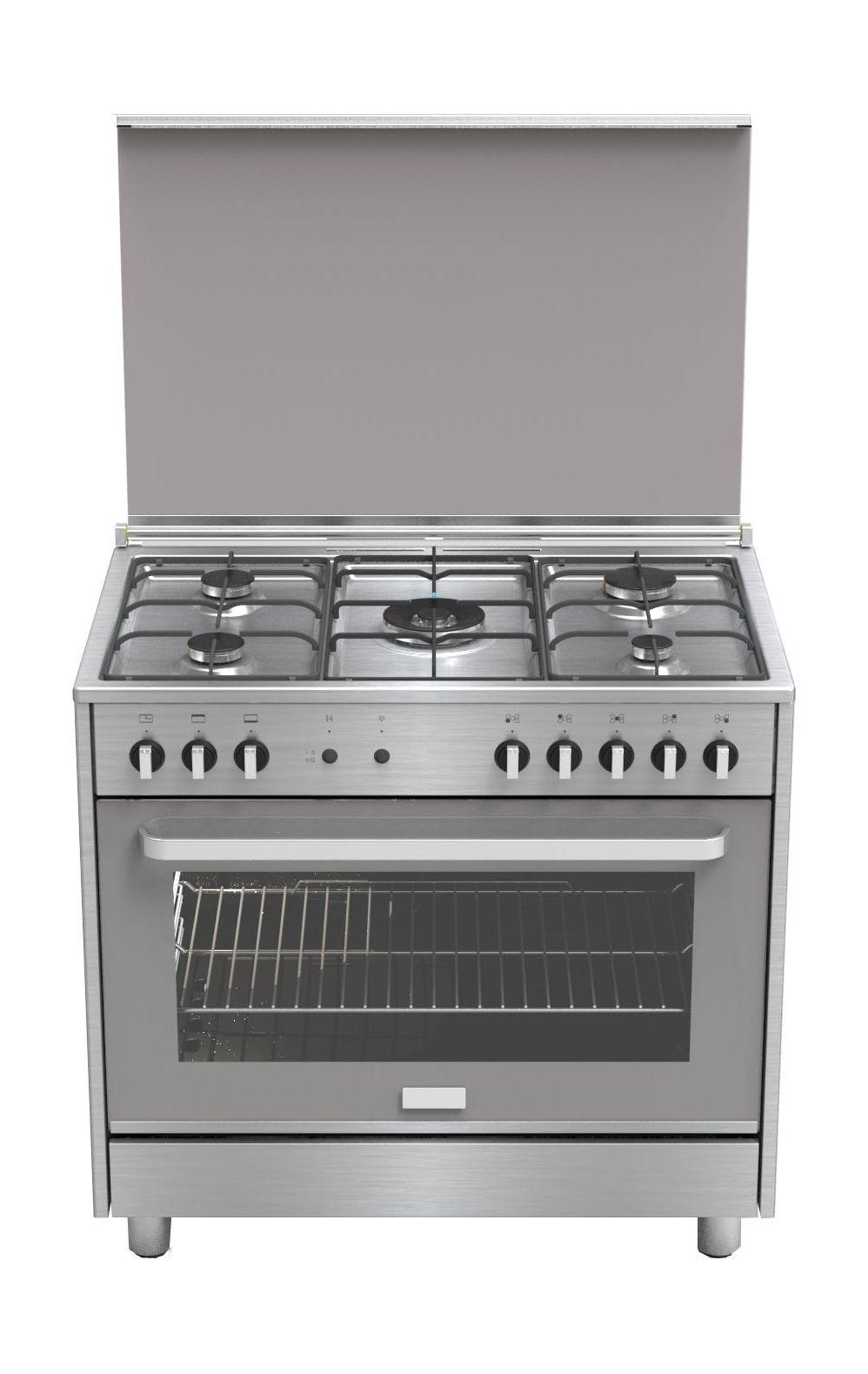 Fs90-sa1 90x60 Cm 5 Quemador De Pie Cocina De Gas Acero Inoxidable ...