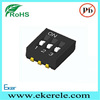 SPST Micro Mini J Head Smd Dip Switch 3 Position