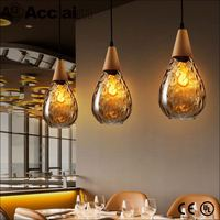 minimalist indoor lighting LED stained glass hanging light fixtures