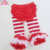 Christmas Red Chiffon Ruffle Tutu Baby Bloomer And Stripes Leg warmers Set For Baby Photo Prop Set