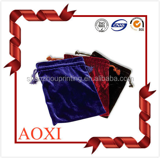Factory sale high-end custom cheap fancy jewelry drawstring pouches velvet watch bags