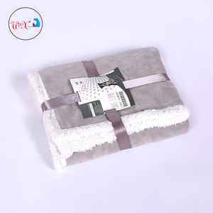 china gold supplier warm 100 polyester patchwork fleece sherpa blanket