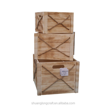 Natural Vegetable Wooden Box Crate Wood Fruit Wooden Packing Boxes