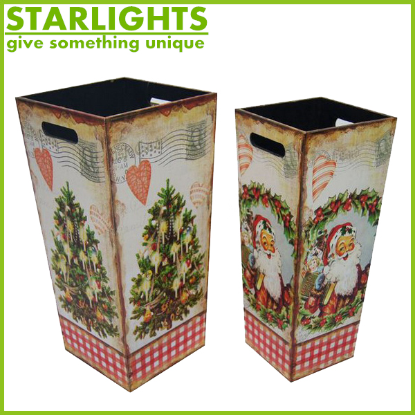 Hot selling low price recyling bulk mdf home use waste bin