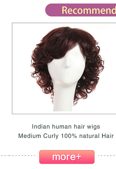 Indian human hair Medium wigs afro Curly wig 100% natural Hair for African-American