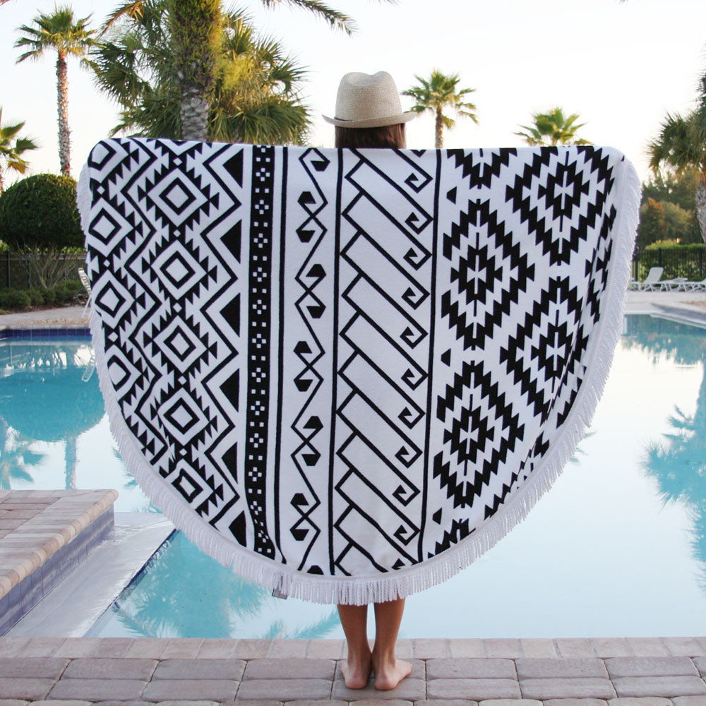 2018 New Fashion Round Beach Mat Beach Towel Wholesale Round Sarong Pareo