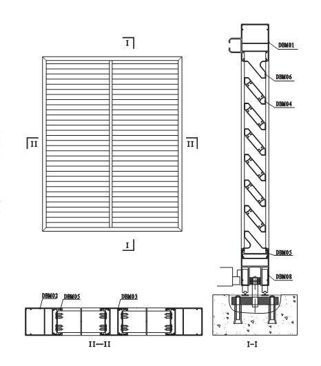 Aluminum Louver Profile Drawings