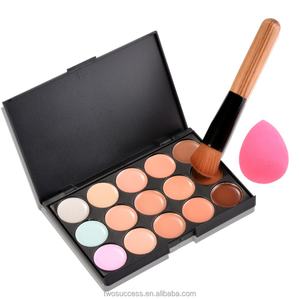 15Color Makeup Waterproof Concealer With Cosmetics And Water Droplets Sponge Puff