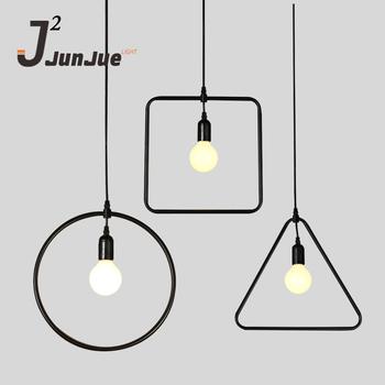 Modern Creative Loft Character Pendant Lamp Simple Industrial Design  Interior Decor Puzzle Lamp E27 Steel Wire