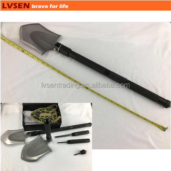 MOQ1pc folding titanium multifunction military shovel