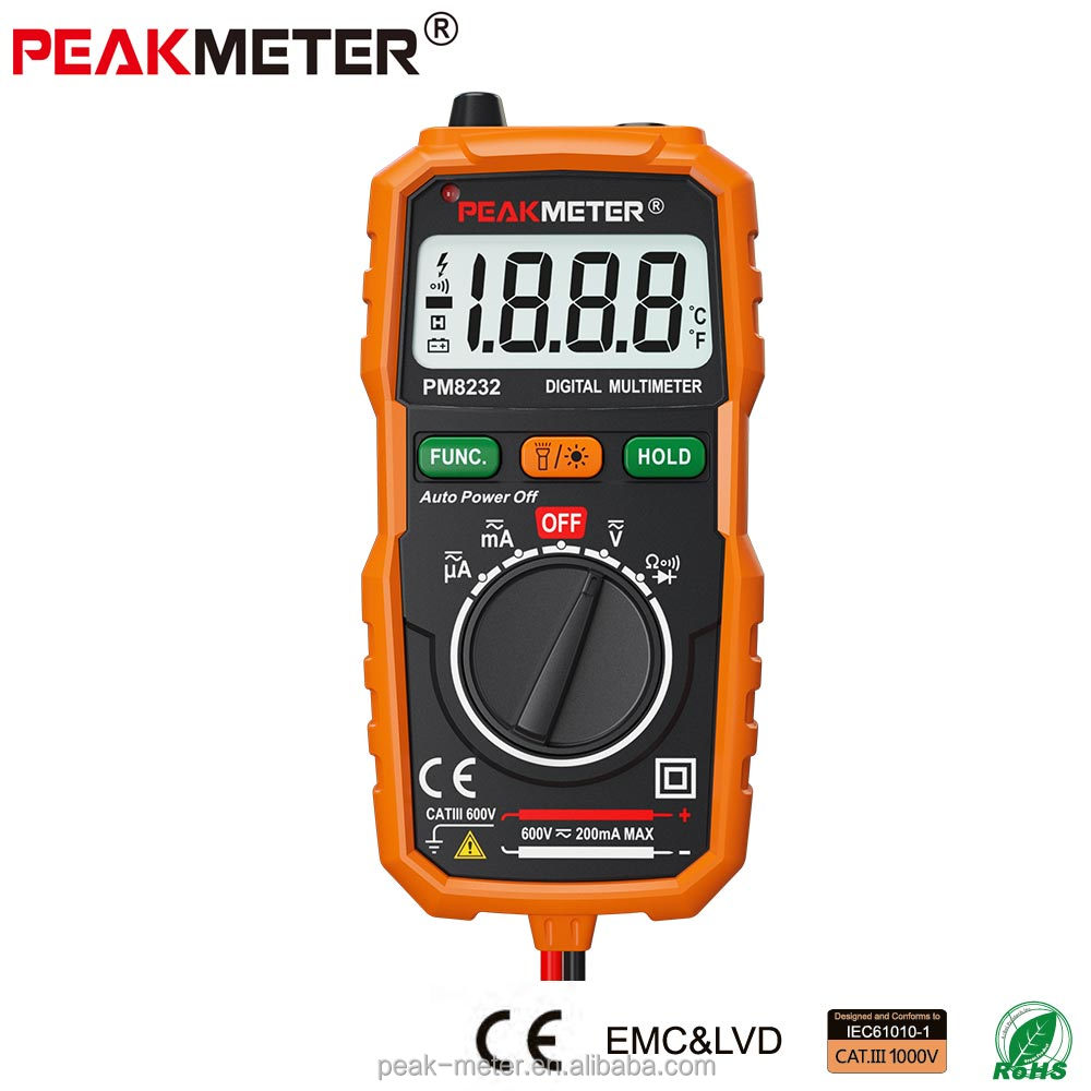 Professional CE Mini low price Best AC DC Multimeter Digital MS8232 with RoHS