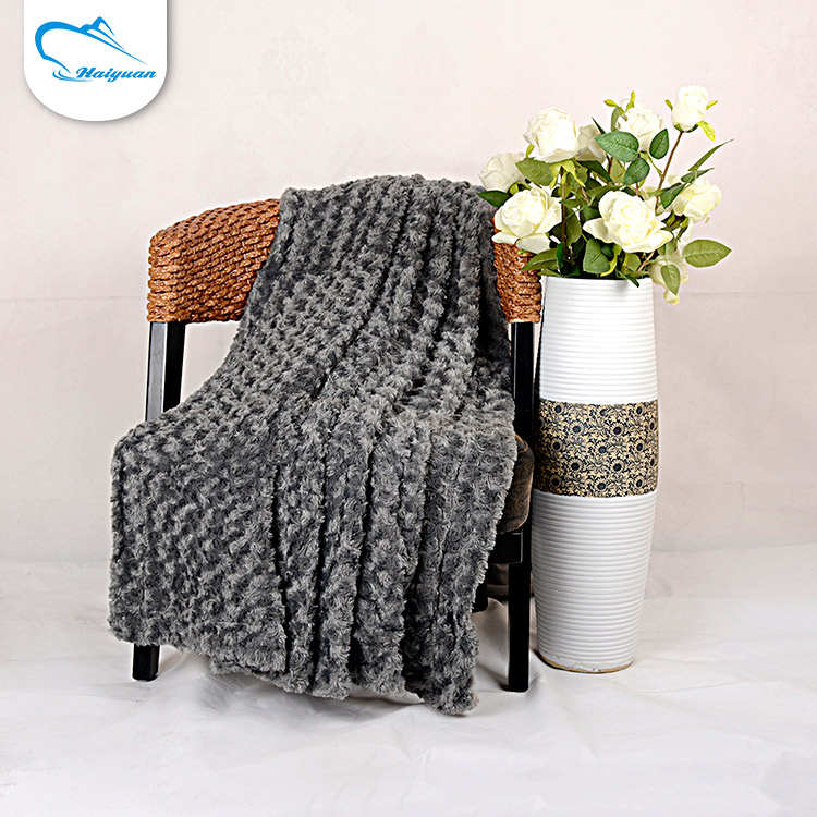 Wholesale mexican super soft luxury double face grey outdoor thermal blanket