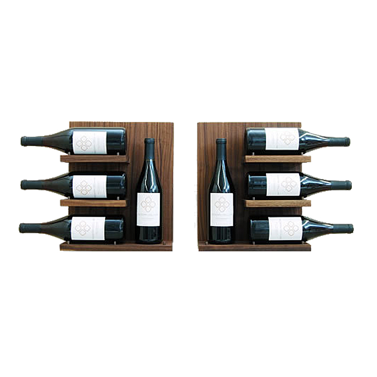 wall mounted wood wine rack decorative storage shelf for kitchen