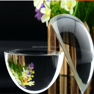Clear Crystal Paperweight Dome Magnifier For Company Gifts