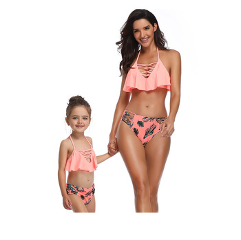 2019 New Arrival OEM Wholesales Customized Fashion Micro Bikini Girl Sexy Kids Bikini