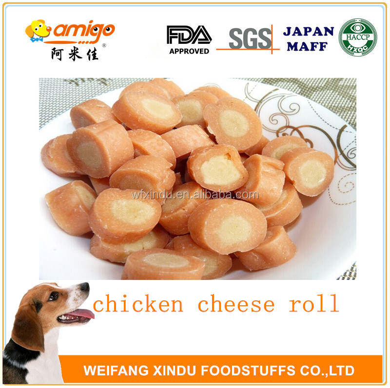 no addition natural chicken cheese roll best for dog or pet