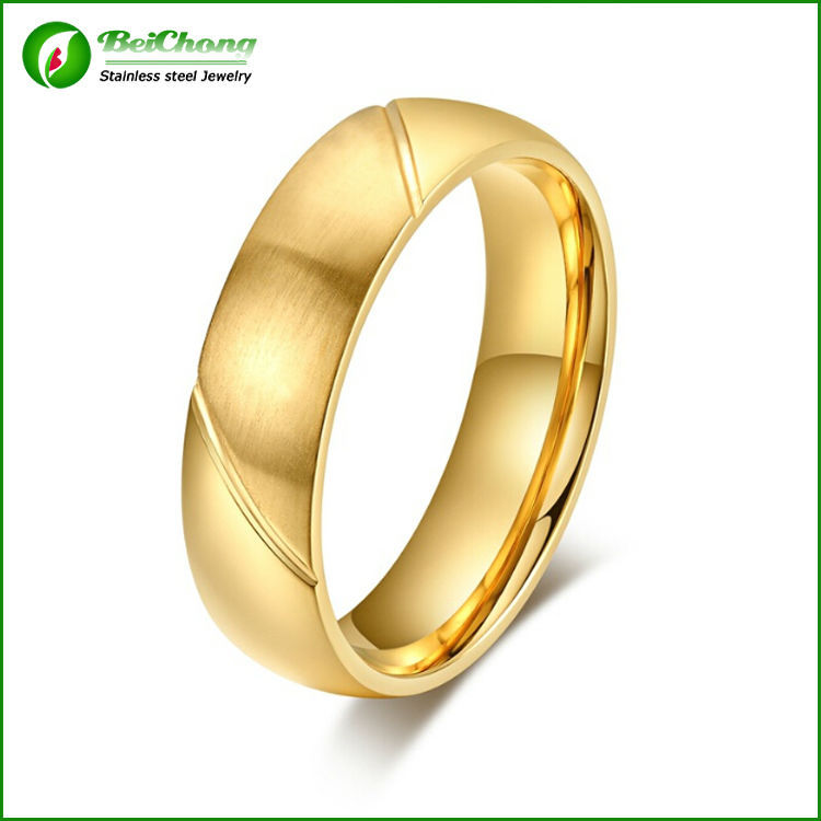 Latest wedding ring plain gold ring without stones for men View
