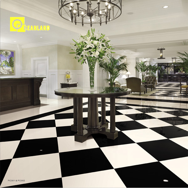 24x24 black porcelain tile