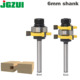 "2pc Tongue and Groove Router Bit Set 1/4"" x 1/4"" - 6"" Shank Woodworking cutter Tenon Cutter for Woodworking Tools"