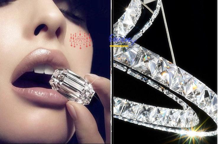 Hängelampe Kronleuchter Kristall ~ L cm led oval kristall hängelampe kronleuchter lampe