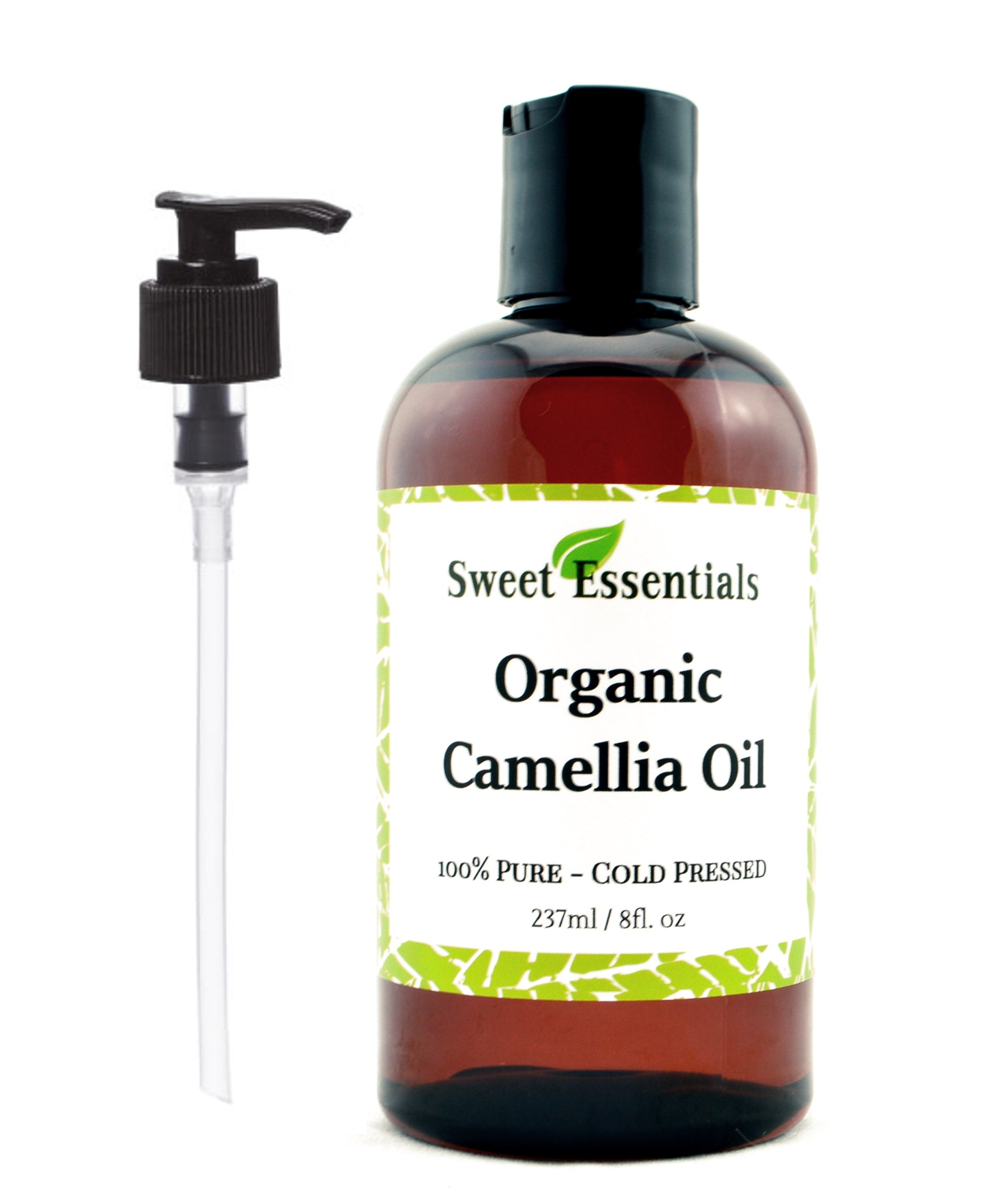 Organic Camellia Seed Oil | Imported From Japan | 8oz Bottle | 100% Pure | 100% Organic | For Hair & Skin Use | By Sweet Essentials