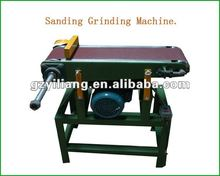 wooden polishing machine with drum for edge/angle grinding.