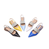 10% OFF! Wholesale china cheap price ladies heel slingback sandals women shoes