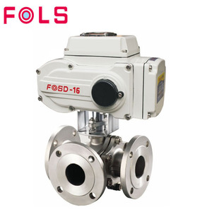 Electric actuator flange stainless steel 3 way motorized ball valve