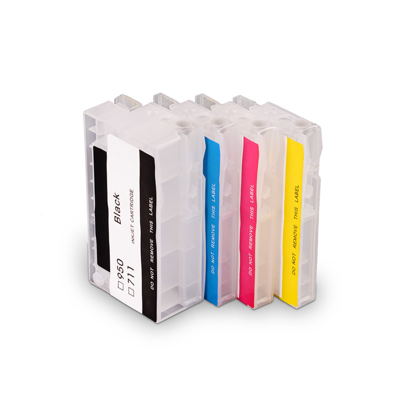 Ocinkjet 711 Empty Refillable Ink Cartridge With Chip Refillable Ink Cartridge For HP T120 T520 Printer