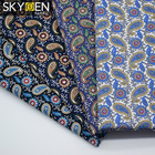Skygen custom plain weave soft 100% cotton paisley printed fabric for shirt