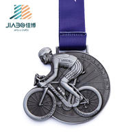 customized metal bicycle sports award festival souvenir 3d bike shape metal medal