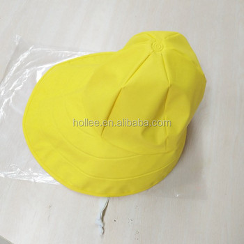 Waterproof Fleece Lined Yellow Fisherman Pu Rain Hat - Buy Rain ... 303f00c9946