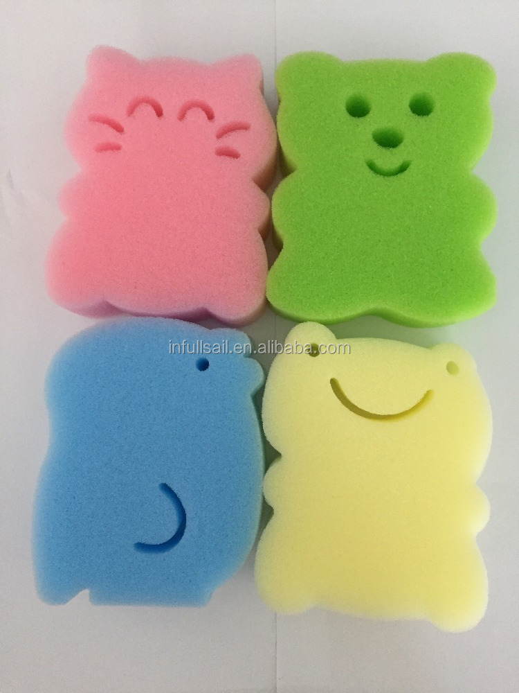 2016 new shape colors artificial cleaning sponge cute bath sponge for kids