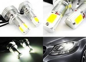 LEDIN 2x H7 High Power COB LED HL Dual Beam Headlight Bulb 60W 3800lm 6000K