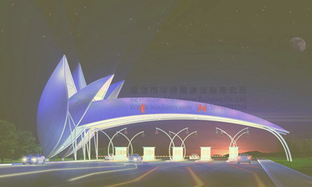 Architecture Membrane Structure Toll Stations Wtih Install On-site ...