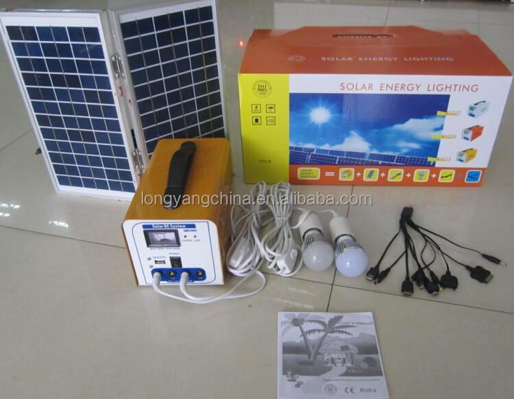 12 V Dc Kit Iluminaci N Solar Uso Casero Llev La L Mpara
