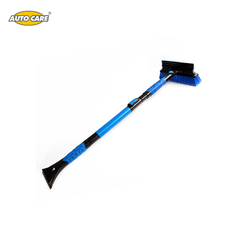 Customized snow sweeper brush,clean broom brush,car snow brush with ice scraper