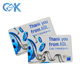 Credit card size pvc plastic fancy gift cards printing from China golden suppliers.