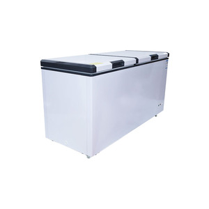 600L top open door double temperature refrigerator chest led light commercial deep freezer