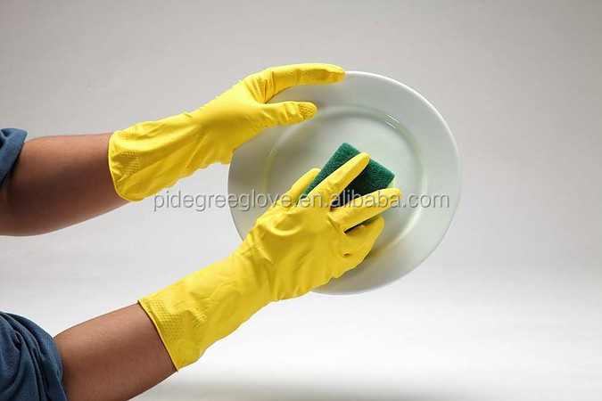 Household Rubber Latex home use Gloves for Kitchen Cleaning home applicance