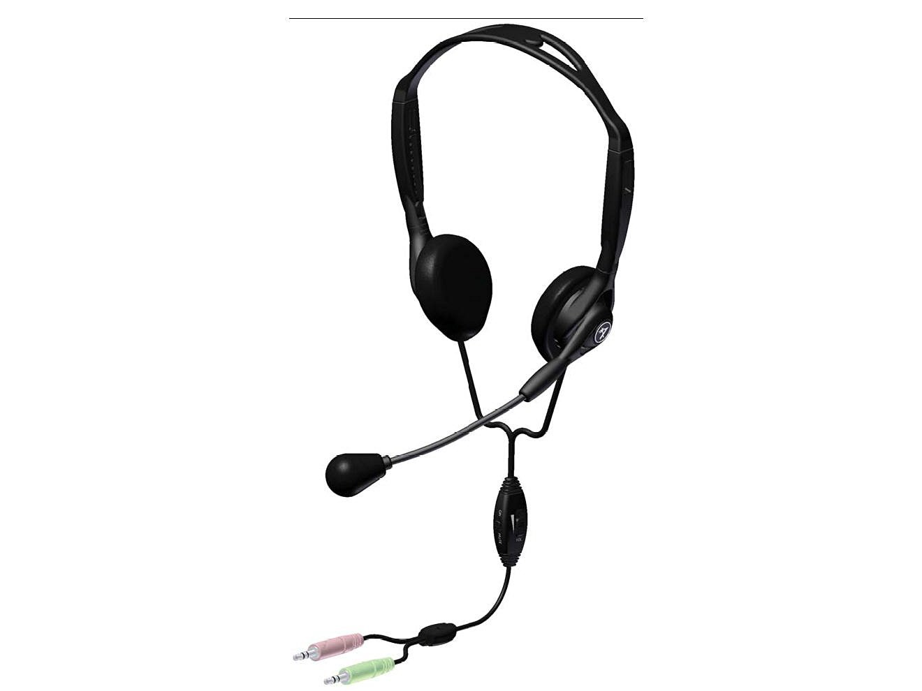 Andrea Communications C1-1023300-1 Model NC-125VM Stereo PC Computer Headset with Noise Canceling Microphone, Inline Volume and Mute Controls, Adjustable Headband, 8 Foot Cable