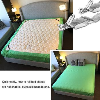 GW1 4cs/set Sheet Band Straps Suspenders Adjustable Bed Sheet Corner Holder  Elastic Straps Fasteners