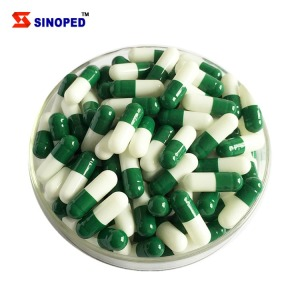 Halal Empty Capsule Pharmaceutical Product Green Drug Gelatin Vigorous Empty Capsule