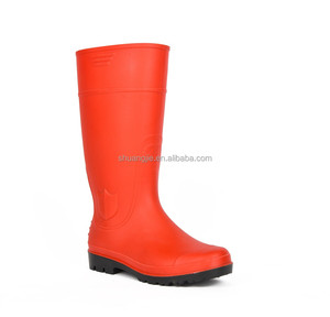 fashionable colorful pvc rain long boots for women