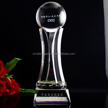 Transparent Peak Performance Ball Crystal Trophy Awards For Winners Victor Gifts