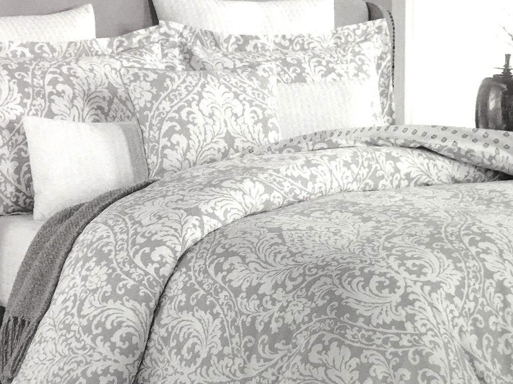Get Quotations · Nicole Miller Boho Chic Bedding Grey Bohemian Paisley  Duvet Cover Set 3pc Large Moroccan Damask Medallion