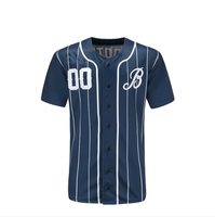 Wholesale Cheap Custom Softball Wear Blank Baseball Jersey breathable anti-shrink sublimation Baseball top